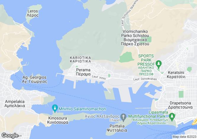 Map for Northern Aegean islands, Lesbos, Perama