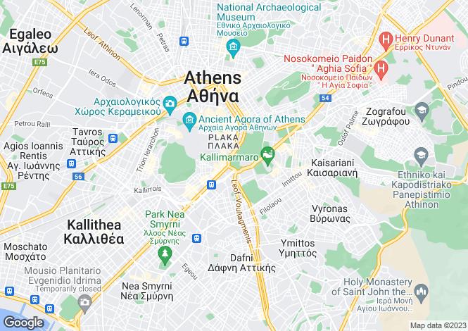 Map for Athens, Attica