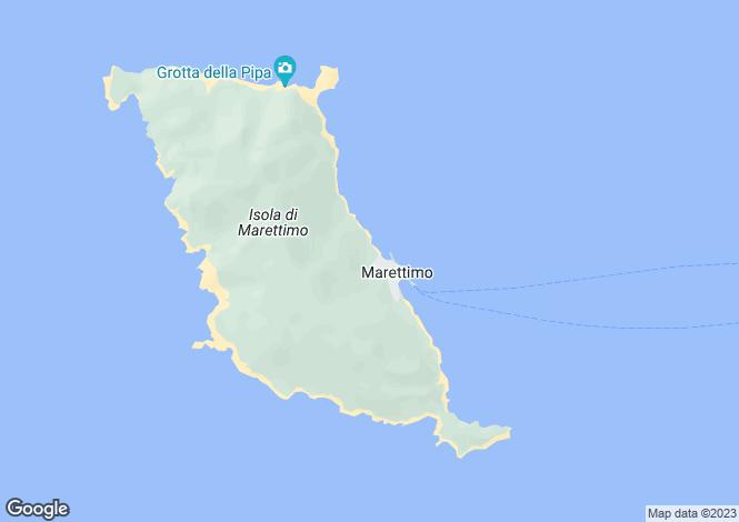 Map for Marettimo, Trapani, Sicily