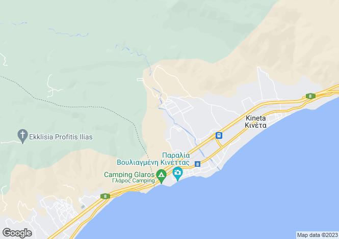 Map for Attica, Kineta