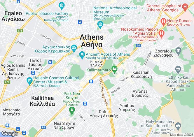 Map for Attica, Lagonissi