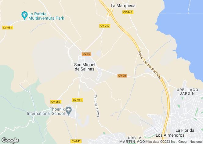 Map for San Miguel De Salinas, Alicante, Spain