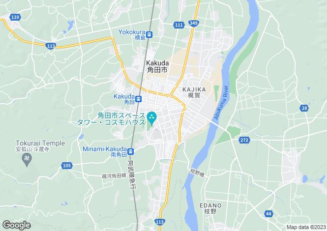 Map for Miyagi, Kakuda
