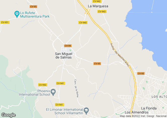 Map for San Miguel De Salinas, Alicante, Spain