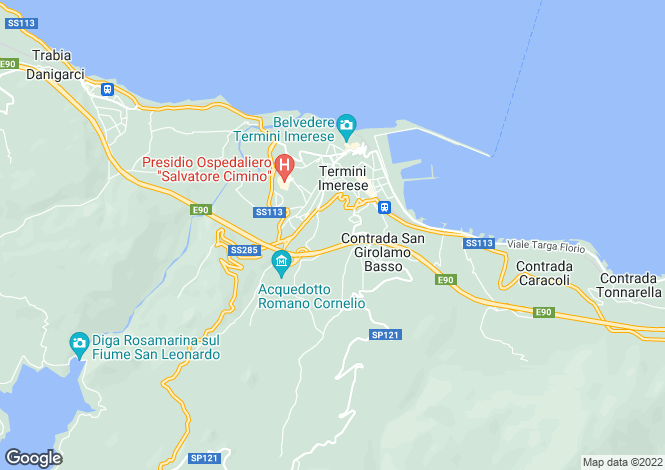 Map for Sicily, Palermo, Termini Imerese
