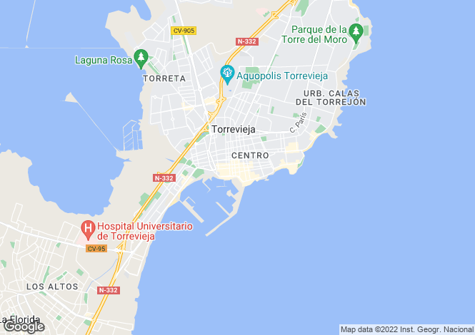 Map for Torrevieja Centro, Torrevieja, Alicante, Spain