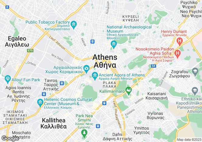 Map for Attica