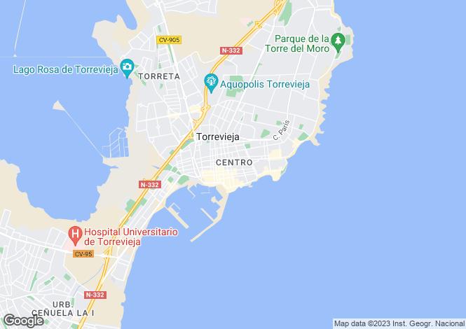 Map for Torrevieja, Torrevieja, Alicante, Spain