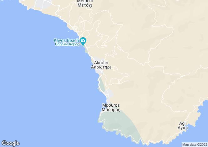 Map for Evvoia, Karystos