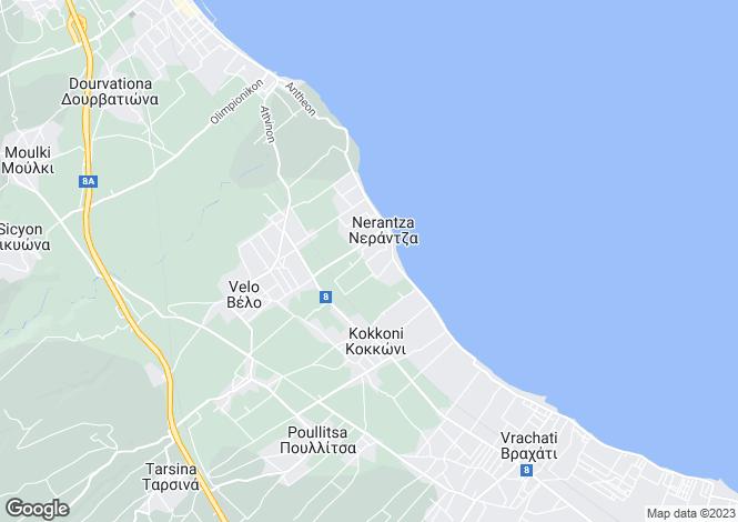 Map for Peloponnese, Nerantza