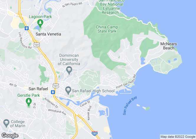Map for California, Marin County, San Rafael