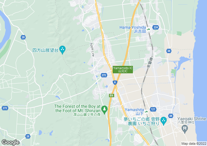 Map for Tokyo, Kodaira
