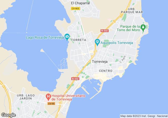 Map for Torreta Florida, Torrevieja, Alicante