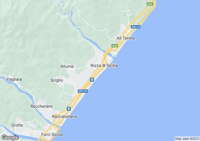 Map for Nizza di Sicilia, Messina, Sicily