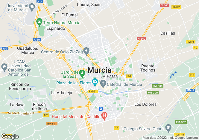 Map for Murcia, Balsicas