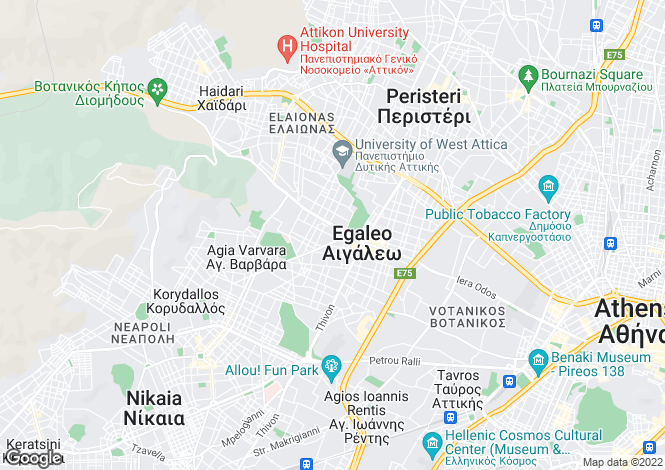Map for Attica, Peristerio