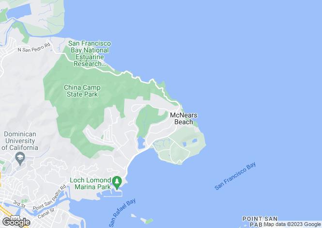 Map for California, Marin County, San Rafael