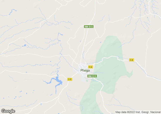 Map for Murcia, Pliego