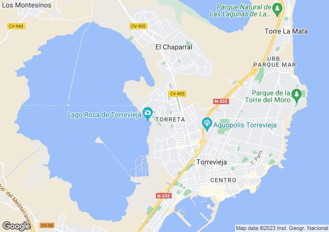 Map for C/ Las Tortolas. Urb. Torreta II. Bloque 11. Apartamento 77., Torrevieja, Torrevieja