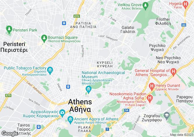 Map for Attica, Palaio Psychico