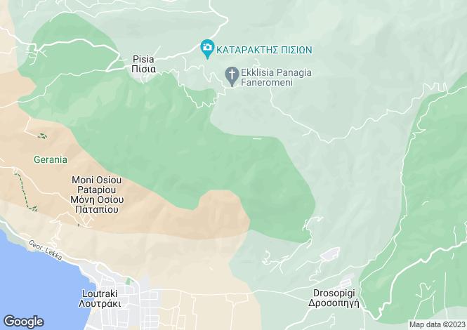 Map for Peloponnese, Corinthia, Loutraki
