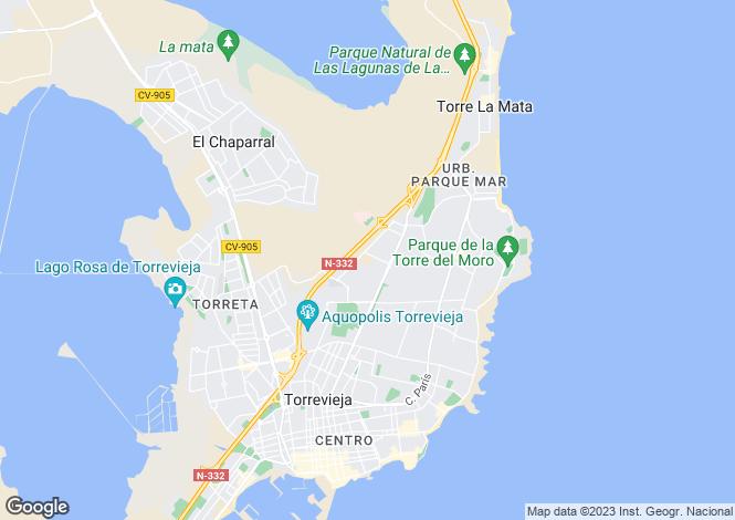 Map for Agua Nuevas, Alicante, Spain