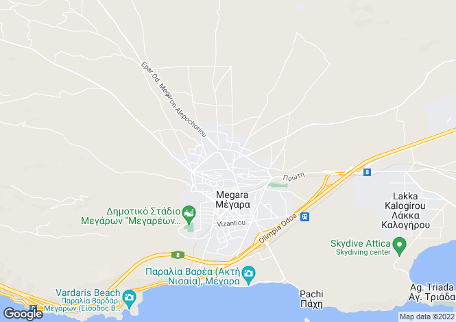 Map for Attica, Megara