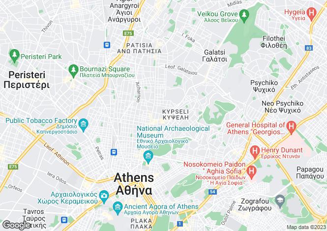 Map for Attica, Elliniko
