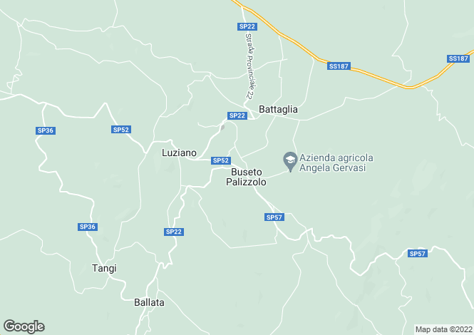 Map for Sicily, Trapani, Buseto Palizzolo
