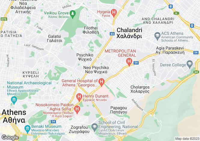 Map for Attica, Neo Psychico