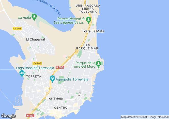 Map for Cala Del Moro, Torrevieja, Alicante