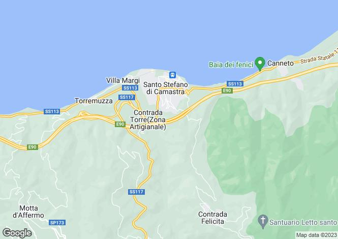 Map for Sicily, Messina, Santo Stefano di Camastra
