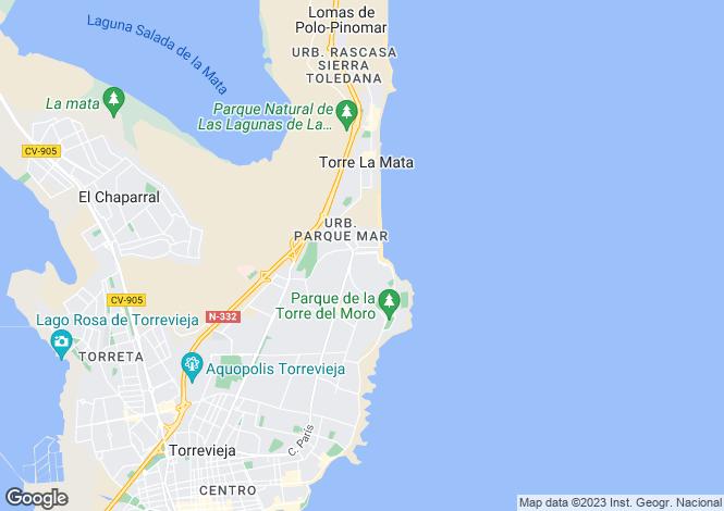 Map for La Mata, Torrevieja, Alicante