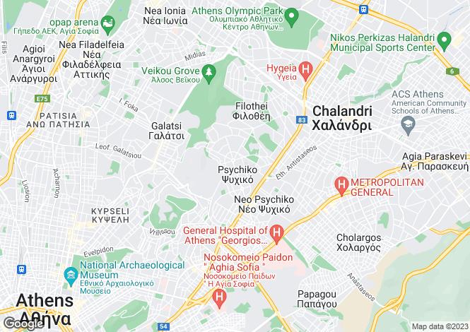 Map for Neo Psychico, Attica