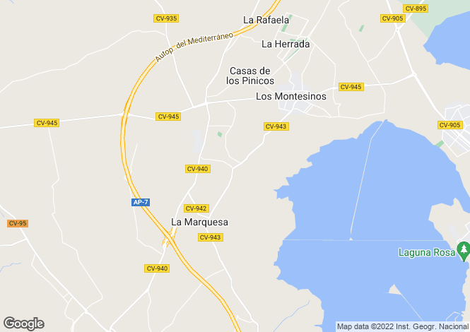 Map for Los Montesinos, Alicante, Valencia
