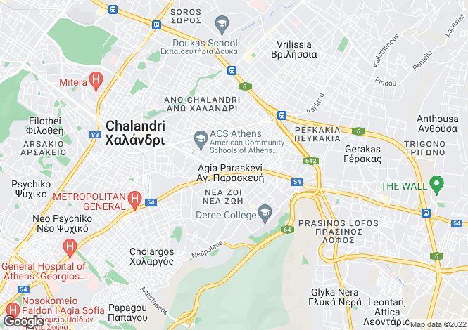 Map for Aghia Paraskevi, Attica