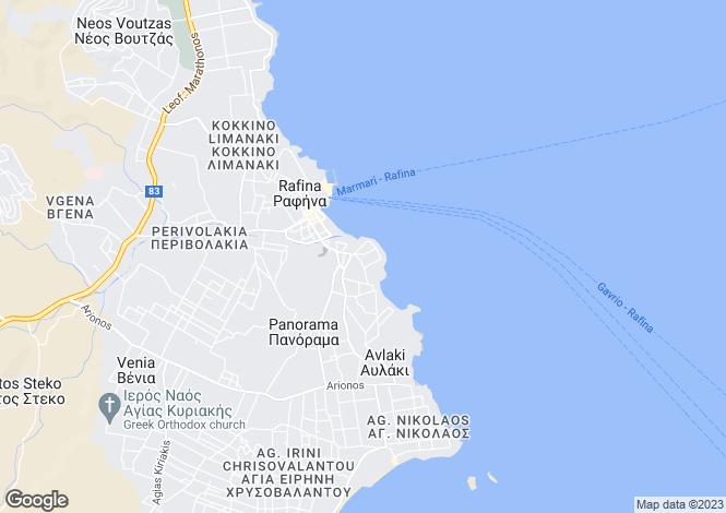 Map for Attica, Rafina