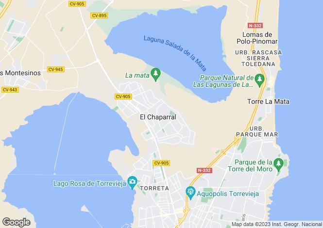 Map for Valencia, Alicante, La Siesta
