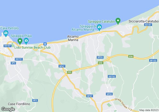 Map for Alcamo, Trapani, Sicily