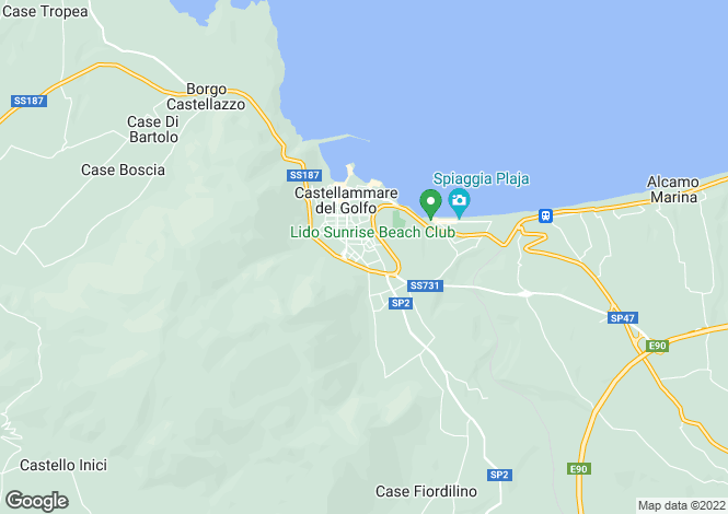 Map for Castellammare del Golfo, Trapani, Sicily