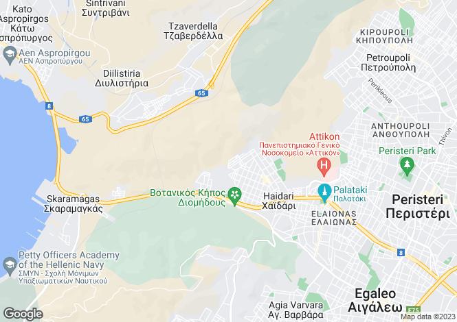 Map for Attica, Dafni