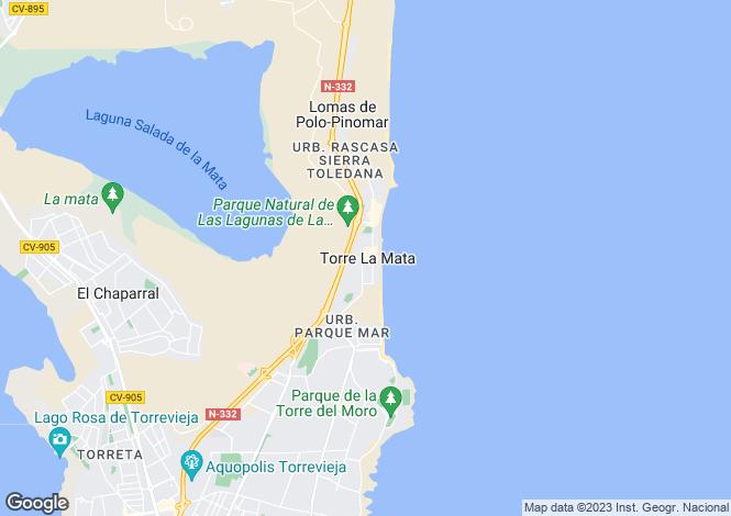 Map for La Mata, Alicante, Valencia