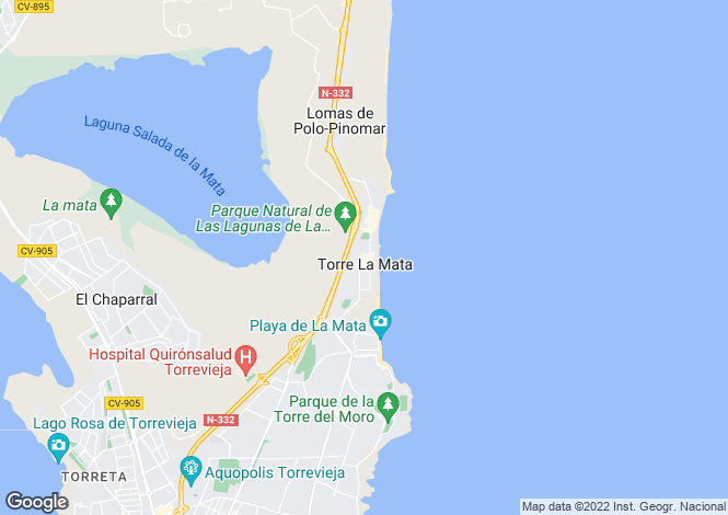 Map for La Mata, Alicante, Spain