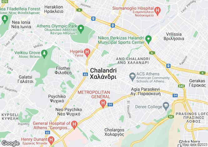 Map for Chalandri, Attica