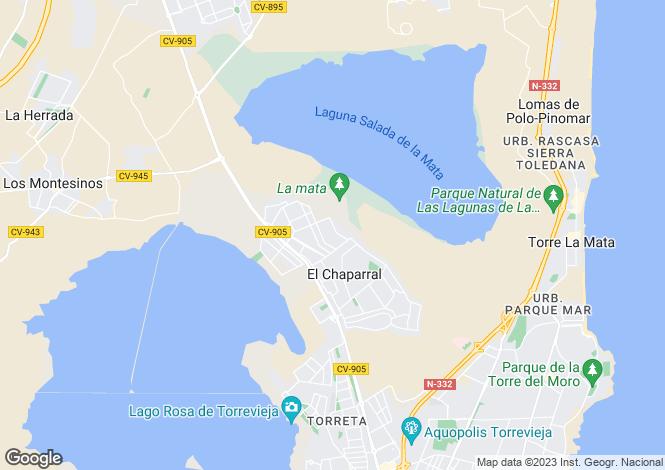 Map for Torrevieja, Alicante, Valencia