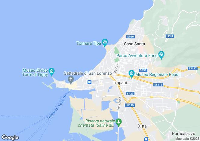 Map for Trapani, Trapani, Sicily