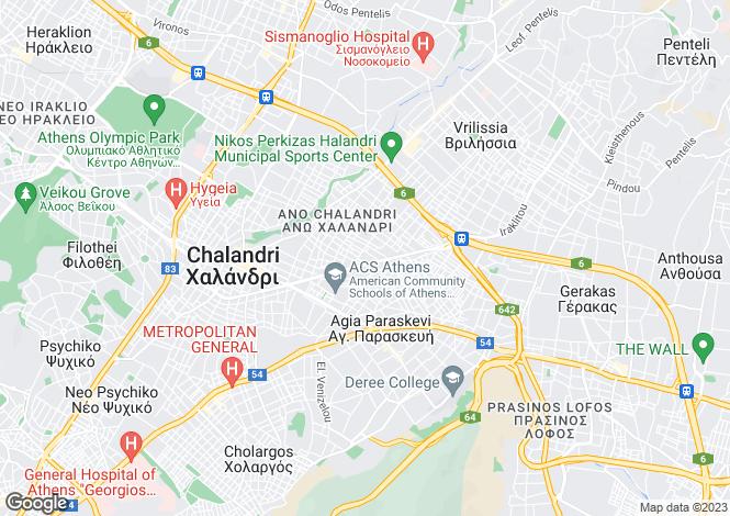 Map for Attica, Chalandri