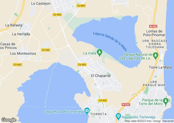 Map for Valencia, Alicante, San Luis