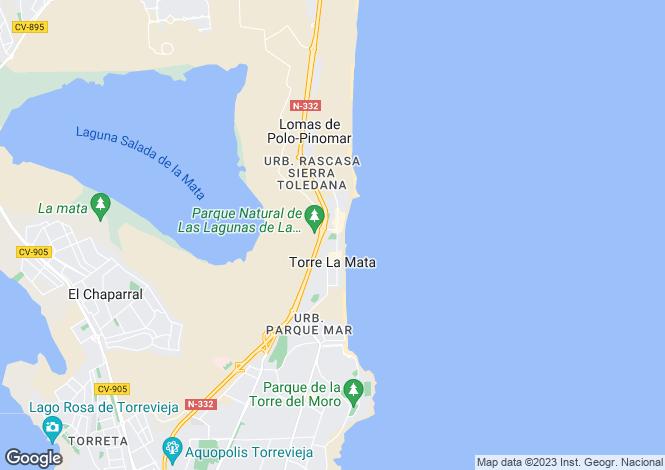 Map for La Mata, Alicante, Spain