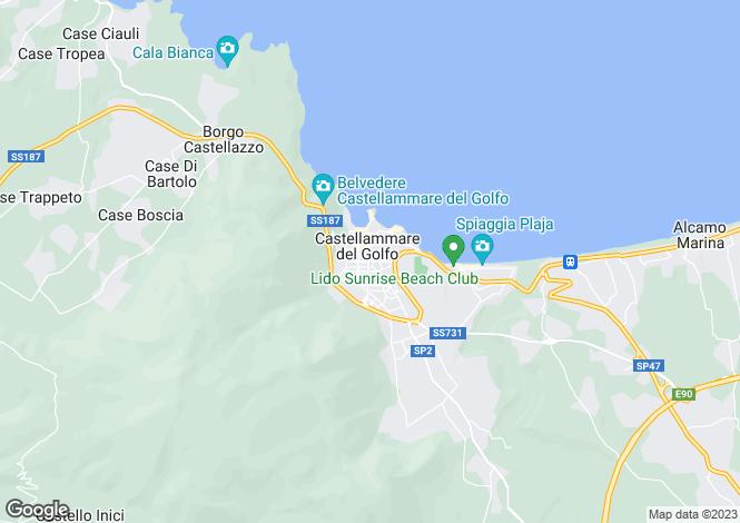 Map for Castellammare del Golfo, Trapani, Sicily